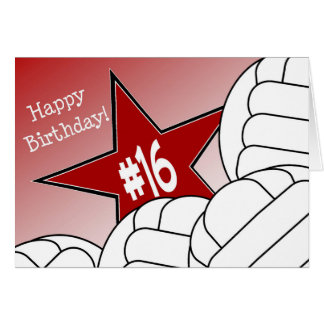 Happy 16th Birthday, Volleyball Star! Card