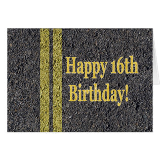 Happy 16th Sixteenth Birthday Driver License Card