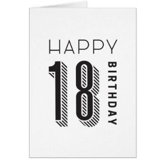 Happy 18 Birthday Card