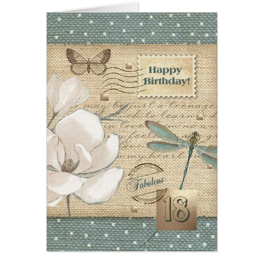 Happy 18th Birthday Customisable Greeting Cards