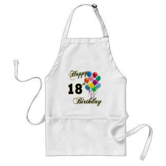Happy 18th Birthday Gifts Standard Apron