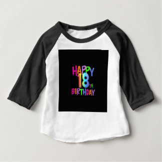 HAPPY 18TH BIRTHDAY MULTI COLOUR BABY T-Shirt
