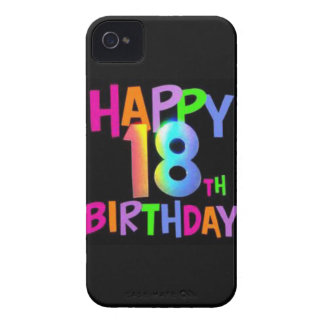HAPPY 18TH BIRTHDAY MULTI COLOUR iPhone 4 COVERS