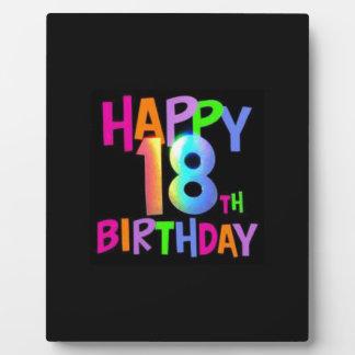 HAPPY 18TH BIRTHDAY MULTI COLOUR PLAQUE