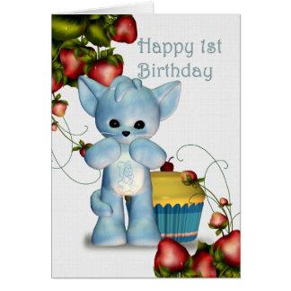 Happy 1st Birthday Boy Greeting Card