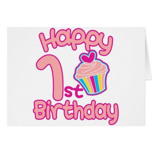 Happy 1st Birthday Greeting Card Zazzle Happy Birthday 1st Year Wishes