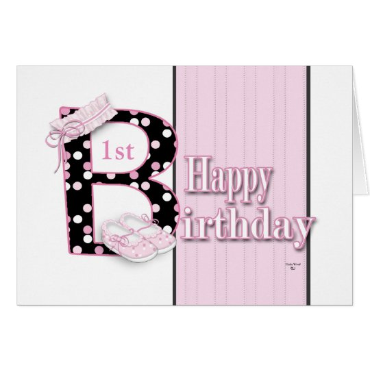 Happy 1st Birthday Princess Card
