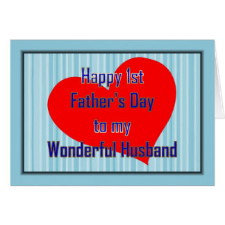 HAPPY 1ST FATHER S DAY TO HUSBAND FROM WIFE GREETING CARDS