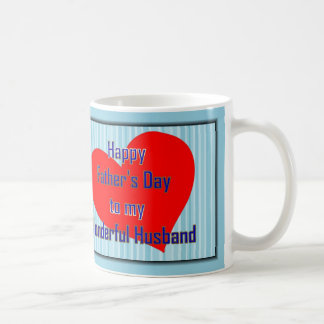 HAPPY 1ST FATHER S DAY TO HUSBAND FROM WIFE - FIRS COFFEE MUGS