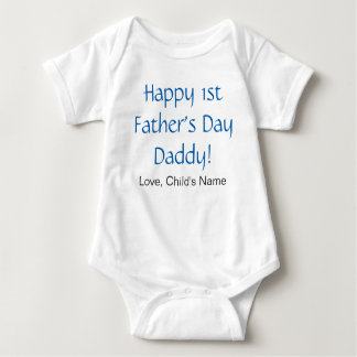 Happy 1st Father's Day Baby Bodysuit