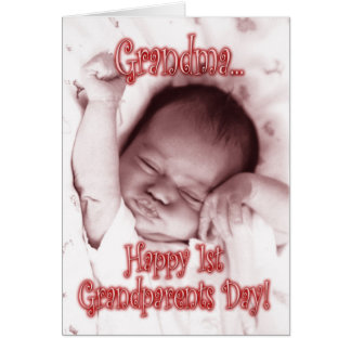 Happy 1st Grandparents Day Grandma - Baby Girl Card