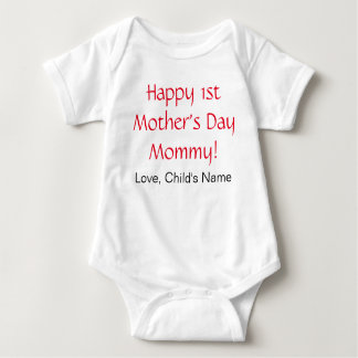 Happy 1st Mothers Day Baby Bodysuit
