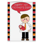 happy 1st mother's day (father/baby girl) greeting card