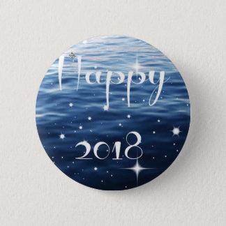 Happy 2018 6 cm round badge