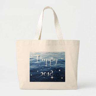 Happy 2018 large tote bag