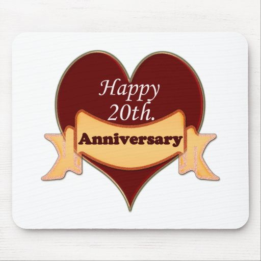 Happy 20th. Anniversary Mouse Pads