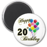Happy 20th Birthday Gifts and Birthday Apparel Magnet