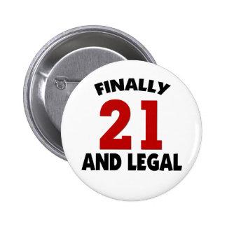 Happy 21 Birthday 6 Cm Round Badge