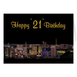 "Happy ""21"" Birthday Las Vegas Style! Card"