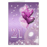 Happy 21st birthday balloons bright greeting card
