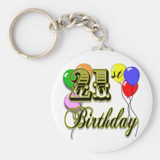 Happy 21st Birthday Merchandise Basic Round Button Key Ring