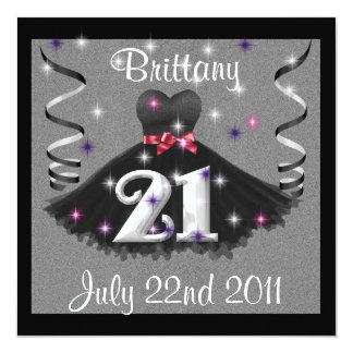 Happy 21st Birthday Party Invitations For Girls