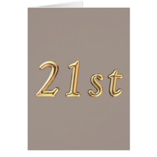 Happy 21st Birthday twentyfirst twentyone 21 21st Card