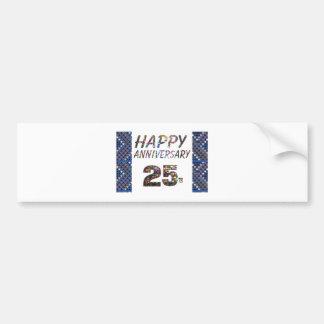 Happy 25 25th Anniversary Elegant Colorful design Bumper Sticker
