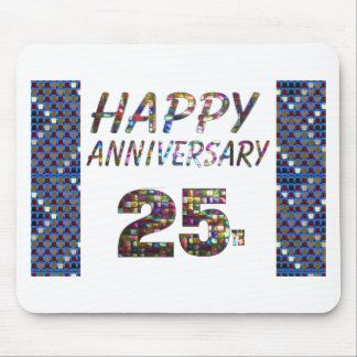 Happy 25 25th Anniversary Elegant Colorful design Mouse Pad