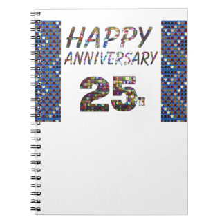 Happy 25 25th Anniversary gifts Notebooks