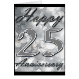 Happy 25th Anniversary Greeting Card