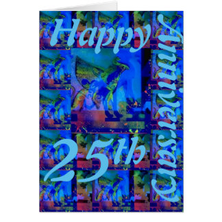 Happy 25th Anniversary Greeting Card