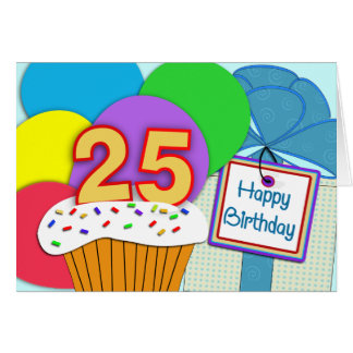 Happy 25th Birthday Card