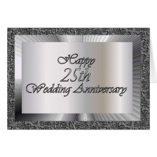 Happy 25th Wedding Anniversary Card