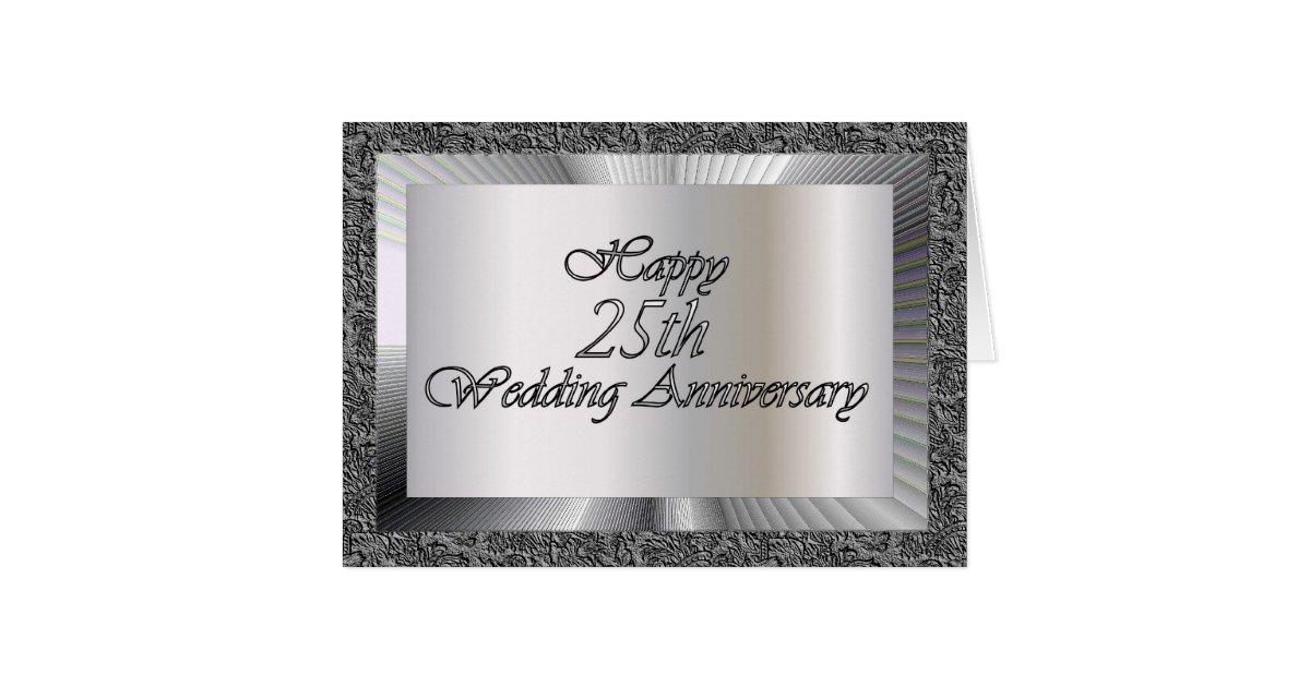 Happy 25th Wedding Anniversary Card Zazzle Com Au