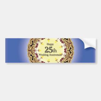 Happy 25th Wedding Anniversary Greeting Cards Bumper Sticker