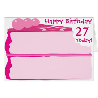 Happy 27th Birthday Card