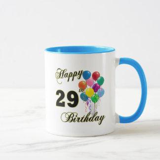 Happy 29th Birthday Gifts with Balloons Mug