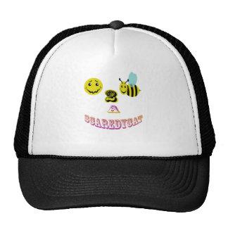 happy 2 bee a scaredycat. mesh hat
