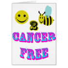 happy 2 bee cancer free card