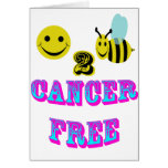 happy 2 bee cancer free greeting card