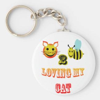 happy 2 bee loving my cat key chains