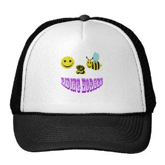 happy 2 bee riding horses trucker hat