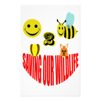 Happy 2 bee saving our wildlife stationery design