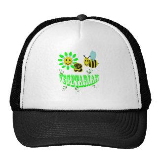 happy 2 bee vegetarian mesh hats