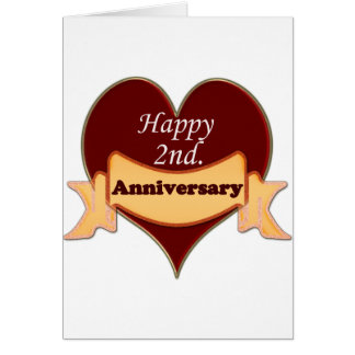 Happy 2nd. Anniversary Card