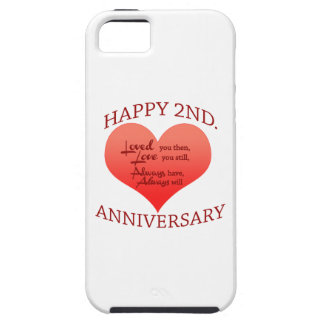 Happy 2nd. Anniversary Tough iPhone 5 Case