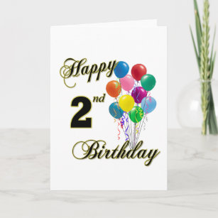 Happy 2nd Birthday Greeting Cards And Post