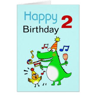 Happy 2nd Birthday ( I am 2 ) Greeting Card