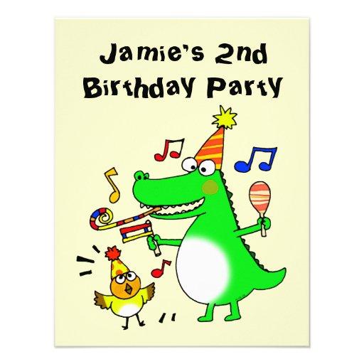 Happy 2nd Birthday ( I am 2 ) Custom Announcement